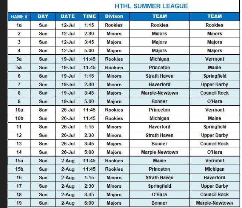 2020 HTHL Schedule (part 1)